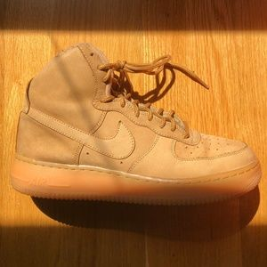 "Nike Air Force 1 High Top ""Flax"""
